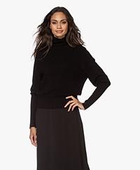 Vanessa Bruno Palmira Woolen Rib Turtleneck Sweater - Black