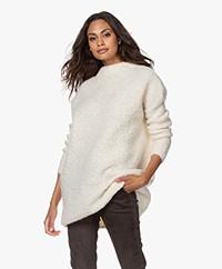 American Vintage Atabury Long Bouclé Sweater - Mother of Pearl