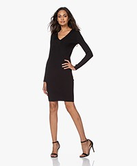 By Malene Birger Dinema Rib Jersey Bodycon Dress - Black