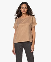 Drykorn Somia Cupro Blend Blouse - Warm Sand