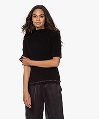 no man's land Seamless Funnel Neck Sweater with Lurex - Core Black