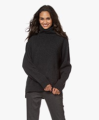 Filippa K Molly Wool Blend Turtleneck Sweater - Dark Grey