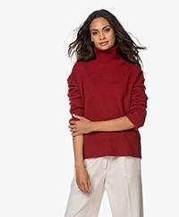 Vanessa Bruno Malo Yak Blend Turtleneck Sweater - Tomato