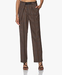 Zadig & Voltaire Phoebe Checked Pants - Marron