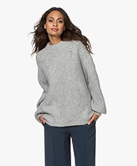 ANINE BING Jolie Alpaca Blend Ribbed Sweater - Heather Grey