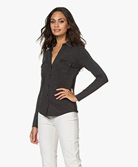 Majestic Filatures Superwashed Jersey Blouse - Antraciet Mêlee