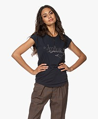 Zadig & Voltaire Skinny Amour Jormi T-shirt - Donkerblauw