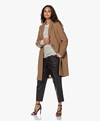 By Malene Birger Ellinor Knee-length Wool Blend Coat - Sandy-brown
