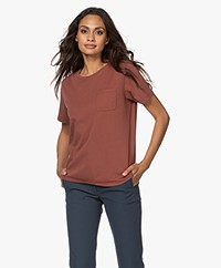 Closed Organic Cotton T-shirt - Mahogany