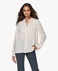 Filippa K Gia Blouse with Drawstring Cuffs - Ivory