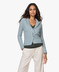 no man's land Mohair Blend Cardigan with Pin Closure - Soap