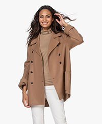Closed Yana Double-breasted Wool Blend Coat - Clay