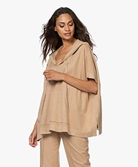 Repeat Oversized Knitted Sweater - Camel