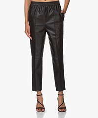 By Malene Birger Florah Loose-fit Leather Pants - Black