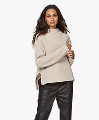 Filippa K Catherine Ribbed Funnel Neck Sweater - Ivory