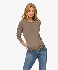 Closed Cotton Long Sleeve - Chocolate Chip