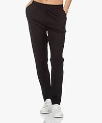 LaSalle Ponte Jersey Slim-fit Pants - Black