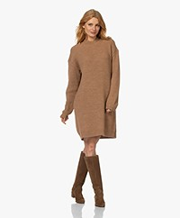 Drykorn Andria Knitted Wool and Alpaca Blend Dress - Almond