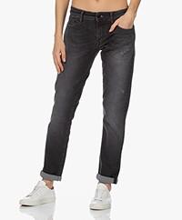 Denham Monroe Girlfriend Fit Jeans - Zwart