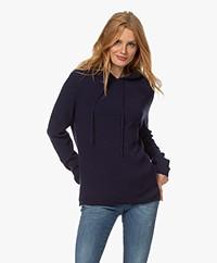 Sibin/Linnebjerg Freja Knitted Hooded Sweater - Navy
