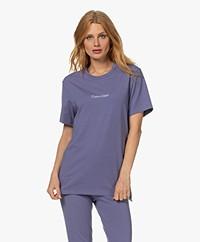 Calvin Klein Modern Structure Cotton Blend T-shirt - Bleached Denim