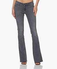 Denham Farrah Super Flare Fit Jeans - Grijs