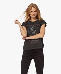 MKT Studio Tropic Bowie Slub Jersey Print T-shirt - Zwart