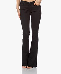 Denham Farrah Super Flare Fit Jeans - Black