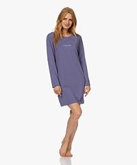 Calvin Klein Long Sleeve Jersey Nightshirt - Bleached Denim