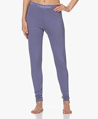 Calvin Klein Modern Structure Cotton Blend Leggings - Bleached Denim