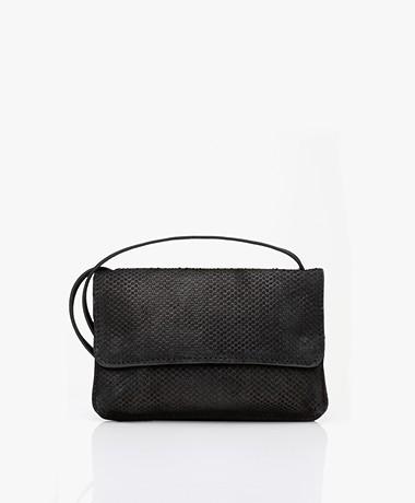 by-bar Julie Snake Cross-body Bag - Black