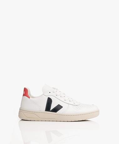 VEJA V-10 Leren Sneakers - Extra Wit/Nautico/Pekin