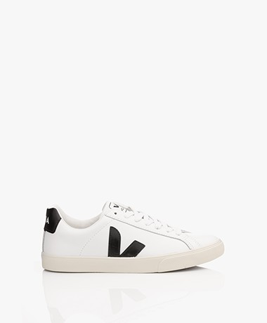 VEJA Esplar Low Logo Leather Sneakers - Extra White/Black