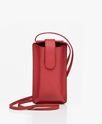 Kyra & Ko Leather Phonebag - Autumn Red