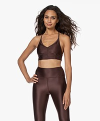 Filippa K Soft Sport Gloss Bra Top - Maroon