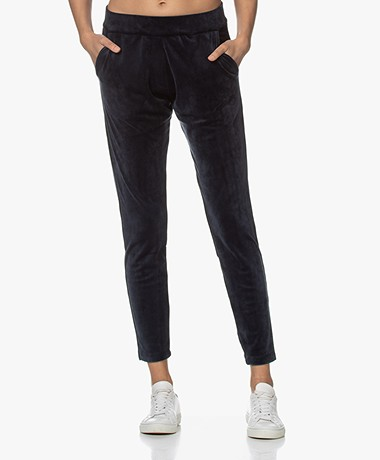 Woman by Earn Bobby Velours Jersey Sweatpants - Navy