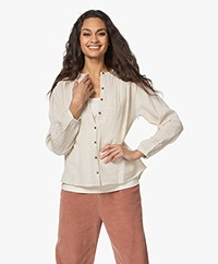 by-bar Romee Slub Blouse - Sand