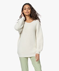 Sibin/Linnebjerg Fanny Fisherman Sweater - Off-white
