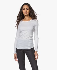 HANRO Cotton Seamless Long Sleeve - White