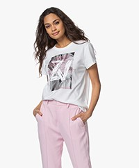 Zadig & Voltaire Zoe Photoprint Cotton T-shirt - White