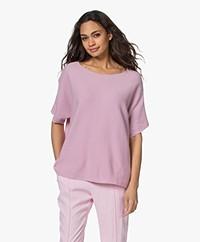 Sibin/Linnebjerg Portal Short Sleeve Sweater - Sweet Pink