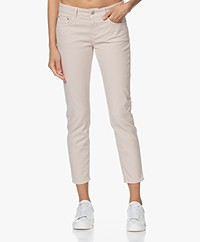 Closed Baker Mid-rise Slim-fit Twill Broek - Lychee