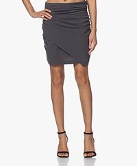 IRO Lannie Crepe Wrap Mini Skirt - Grey