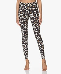 Deblon Sports Classic Sports Leggings - Leopard Off-white