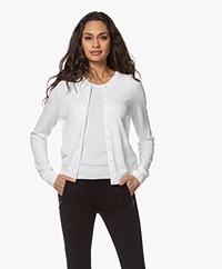 Repeat Bio Cotton Blend Button-through Cardigan - White