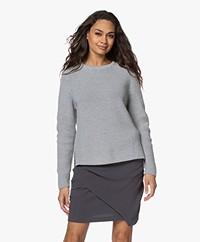 Sibin/Linnebjerg Coral Fisherman's Merino Blend Sweater - Grey Melange