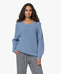Sibin/Linnebjerg Fanny Fisherman Sweater - Light Denim Blue