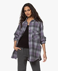 IRO Gowest Checkered Wool Jacket - Purple/Grey