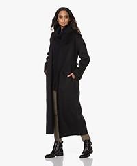 Filippa K Alexa Cashmere Blend Woolen Coat - Black