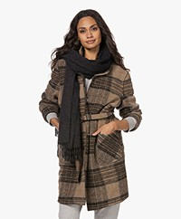 Filippa K Wool en Cashmere Scarf- Antracite